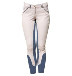 Ladies Denim Breeches Grey Denim