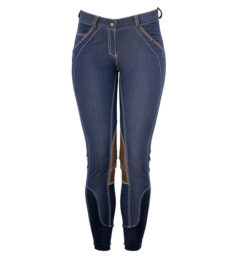 Denim Knee Patch Ladies Breeches