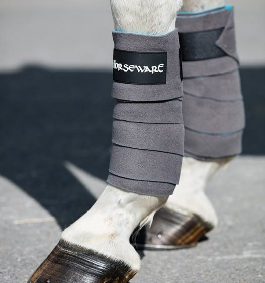 Fleece Bandages Charcoal by horseware