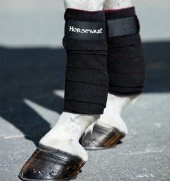 Fleece Bandages Black by horseware