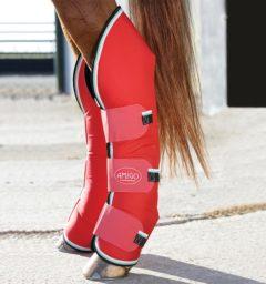 Amigo Travel Boots Red White