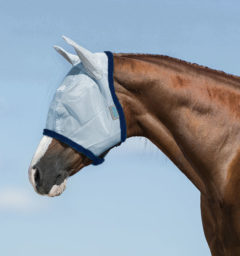 Amigo Fly Mask Baby Blue with Navy