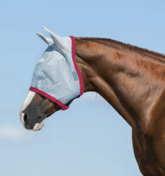 Amigo Fly Mask, Baby Blue/Pink