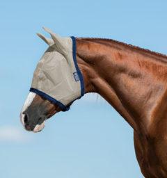 Amigo Fly Mask, Oatmeal/Navy