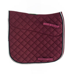 Dressage saddle pad for horses and pony.