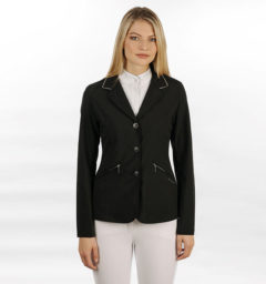 Embellished Ladies Stretchy Competition Jacket Black