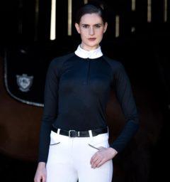 Sara Competition Shirt Long Sleeve Black