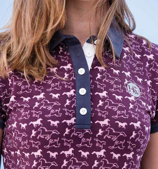 Ashlinn Horse Print Ladies Polo