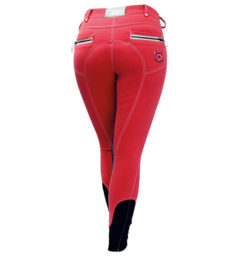 Adalie Knee Patch Bamboo Ladies Breeches - Watermelon Red