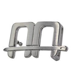 AA Belt Buckle Silver