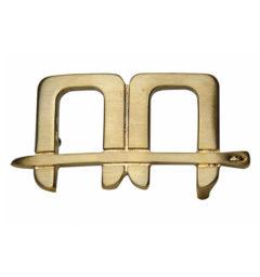 AA Belt Buckle Gold