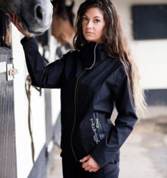 HWH2O Jacket black by Horseware