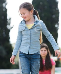 Girls Chambray Denim Shirt