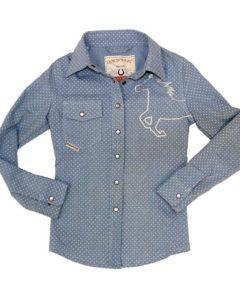 Girls Chambray Denim Shirt