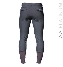 Mens Silicon Breeches Knee Patch - Charcoal