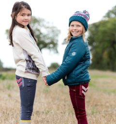 Reversible Padded Jacket, Kids Sweatshirt, Girls Hat and Kids Breeches - Kids Collection by Horseware
