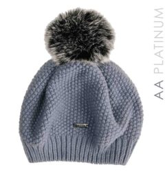 Wool Pom-Pom Hat - Aviation Blue