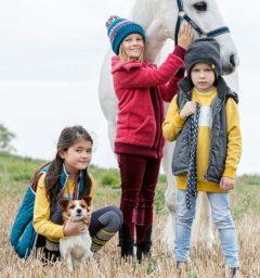 Kids Finn Vest / Gilet, Longline Sherpa Fleece, Reversible Grey Boys Hat
