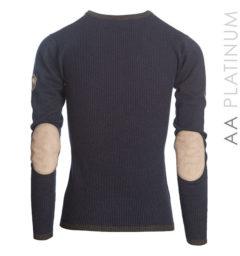 Asti Classic V Neck Sweater - Ombre Blue