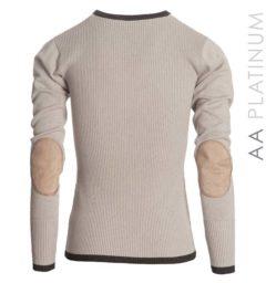Asti Classic V Neck Sweater - Stone Grey by Horseware