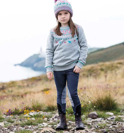 Kids Knitted Denim Breeches