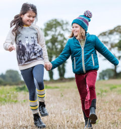 Reversible Padded Jacket, Kids Sweatshirt, Girls Hat and Kids Breeches - Kids Collection
