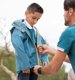 Kids Rain Jacket Moroccan Blue