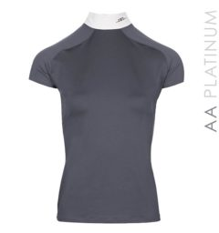 Milena Competition Top with Back Zip Dark Grey