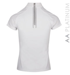 Milena Competition Top with Back Zip White