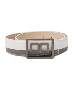 Bi-colour Leather Belt