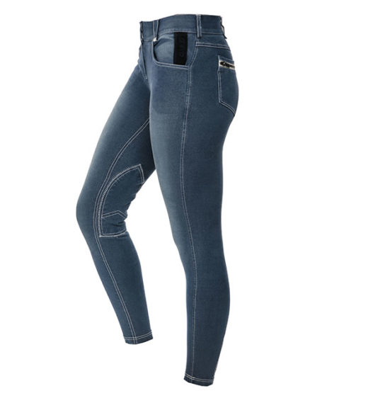 Adalie Knee Patch Summer Denim Ladies Breeches