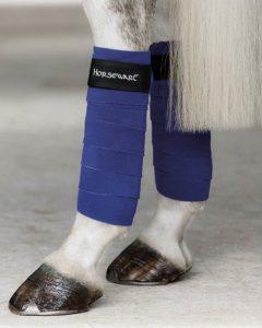 Fleece Bandages Royal Blue by horseware