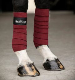 Fleece Bandages Pomegranite by horseware