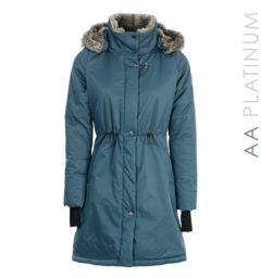 Lugano Long Lady Coat Aviation Blue by Horseware