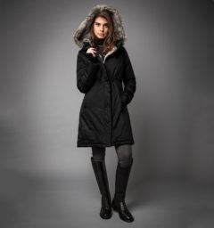 Lugano Long Lady Coat Black by Horseware