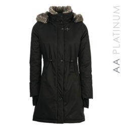 Lugano Long Lady Coat Black by Horseware