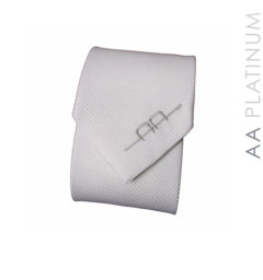 AA Competition Tie White with AA logo