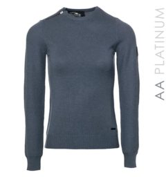 Pistoia Crew Neck Sweater with Zip - Aviation Blue by Horseware