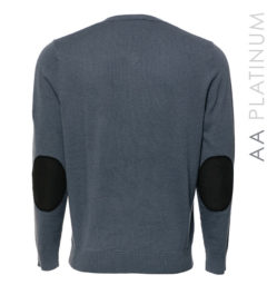 Milano Classic V-Neck Sweater Aviation Blue