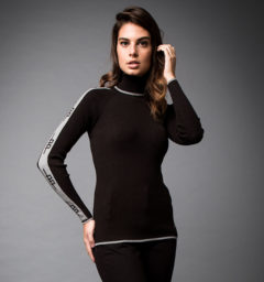 Ribbed Polo Neck
