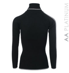 Ribbed Polo Neck Black by Horseware