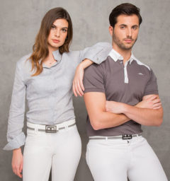 AA Linen Ladies Shirt & Davide Classic Cotton Men's Polo - Alessandro Albanese Platinum