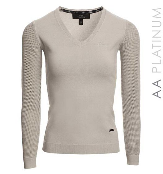 AA Ladies Sweater with Perforated Sleeves