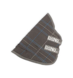 Rhino® Turnout Hood (150g Lite) - Charcoal / Blue / White Check