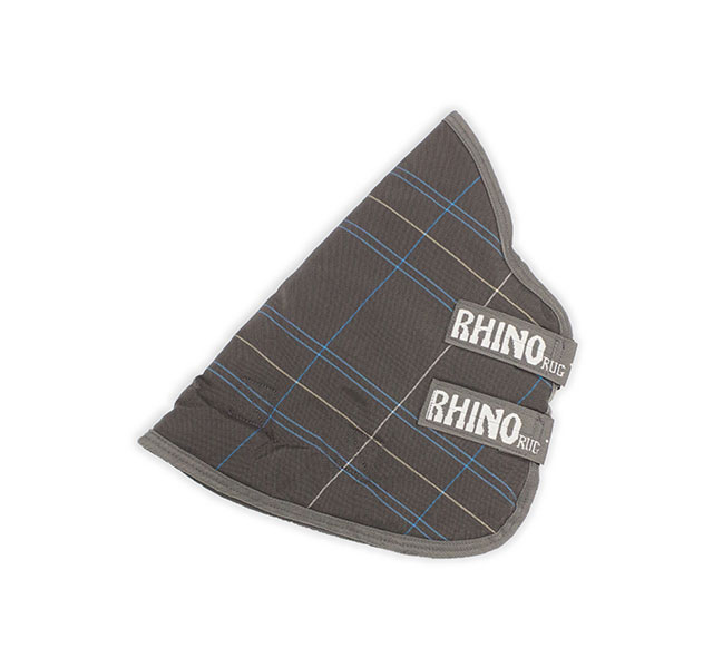 Rhino Original 150g Stable Horse Rug Neck Cover Charcoal Grey White Check
