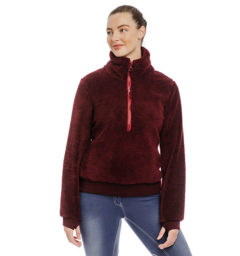 Chiara Cozy 3/4 Zip Top Fleece