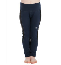 Kids Riding Tights Navy front