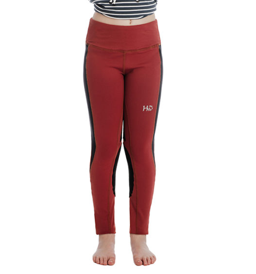 Kids Riding Tights Redwood front