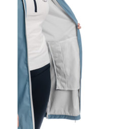 Linny Long Rain Jacket, Blue Heaven, inside pocket view