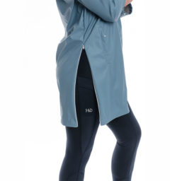 Linny Long Rain Jacket, Blue Heaven, side view